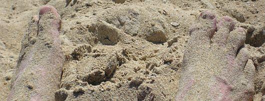 sand on the feet