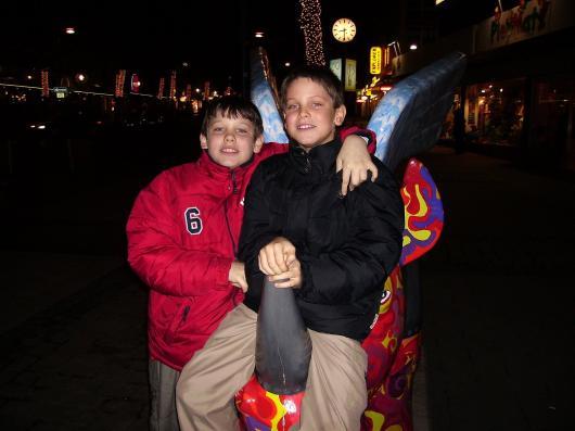 Marcel und Maximilian Koch Meine Kinder 3-1-2006 Dortmund