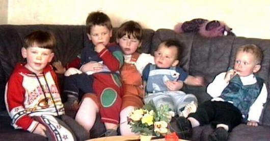 Marcel, Maximilian, Sabrina. Nina und Justin.